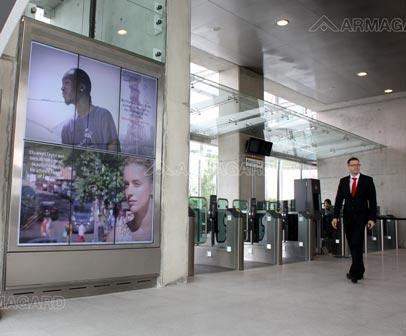 Panneau d'affichage Digital, station de tramway
