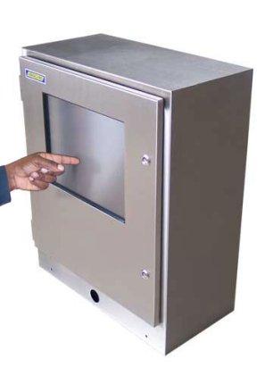 Moniteur industriel cran tactile tanches - Armoire ordinateur fermee ...