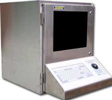 Armoire à ordinateur en acier inoxydable
